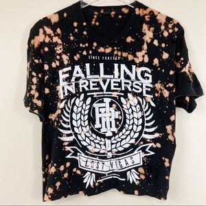 Falling In Reverse Tee Cropped Bleached Destroyed